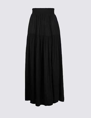 Marks and Spencer Crinkle Full Maxi Skirt