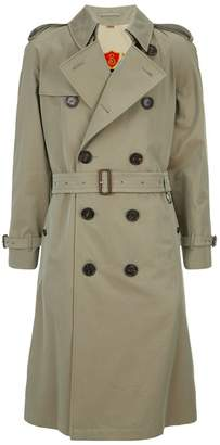 Burberry Shadwell Check Lined Trench Coat