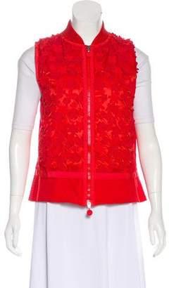 Moncler Embellished Zip-Up Vest