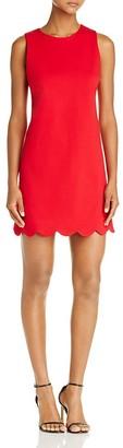 AQUA Scallop Hem Shift Dress - 100% Exclusive $88 thestylecure.com