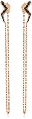 Black Diamond Selda Jewellery - Single Lightning Earring With Chain
