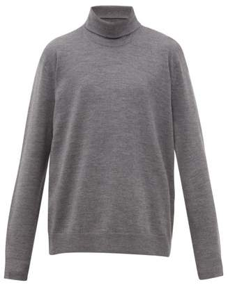 Acne Studios Kage Roll Neck Wool Blend Sweater - Mens - Grey