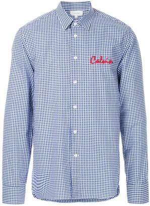 CK Calvin Klein logo embroidered classic gingham shirt