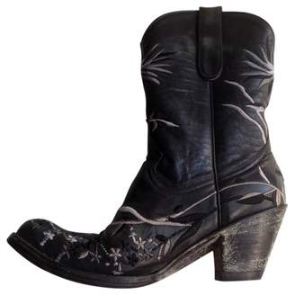 R. Soles Black Leather Boots