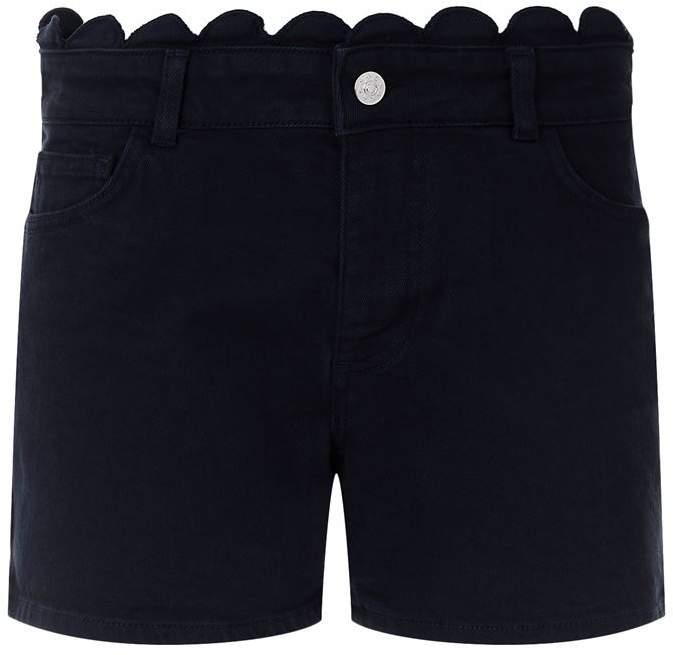 Ella Scalloped Denim Shorts