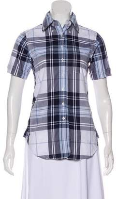 Brooks Brothers Plaid Button-Up Top