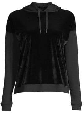 Beyond Yoga Shine On Velvet Faced Pullover Sweater