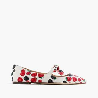 Tie-front flats in berry print $148 thestylecure.com