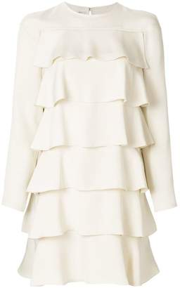 Valentino ruffle design dress
