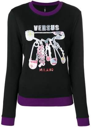 Versus embroidered long sleeved sweatshirt