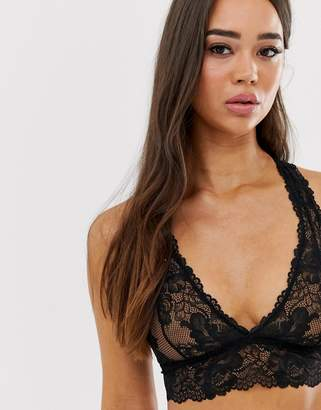 Savage X Fenty Savage x Fenty Lace bralette in black