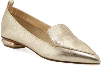 273e7677281 Nicholas Kirkwood Metallic Leather Women s flats - ShopStyle