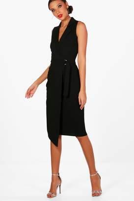 boohoo Tall Sleeveless Blazer Dress