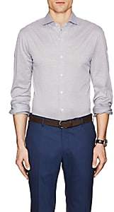 Isaia Men's Neat Cotton Jersey Shirt - Lt. Blue