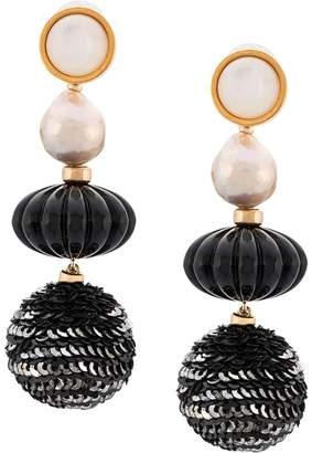 Lizzie Fortunato sequin bead earrings