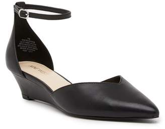 Nine West Evenhim Leather Pointed Toe Wedge Pump - Wide Width Available