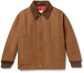 Maison Margiela Corduroy-trimmed Cotton-canvas Bomber Jacket
