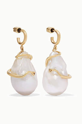 MeDusa Meadowlark 9-karat Gold Pearl Earrings - one size