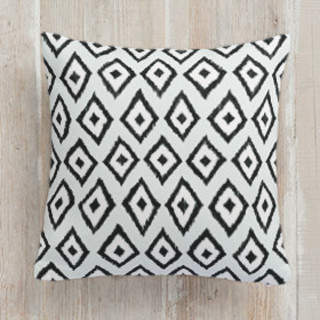 Handdrawn iKat Square Pillow