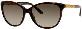 15c783fa9d Cat Eye Gucci Sunsights Metal-Trim Diamantissima Cat-Eye Sunglasses  Tortoiseshell