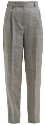 Givenchy Prince Of Wales Check Tapered Wool Trousers - Womens - Grey Multi