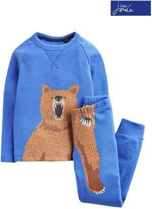 Next Boys Joules Dazzling Blue All Over Print Pyjama Set