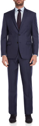 Lauren Ralph Lauren Two-Piece Blue Sharkskin Suit