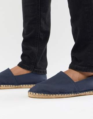 0e294d05452 Asos Design DESIGN espadrilles in navy canvas