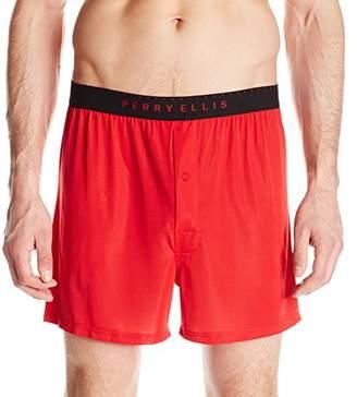 Perry Ellis Men's Luxe Solid Boxer