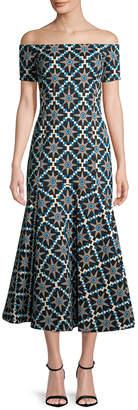 Temperley London Onyx Jacquard Midi Dress