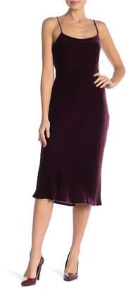 Theory Telson Velvet Midi Dress