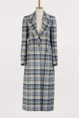 Acne Studios Long plaid coat