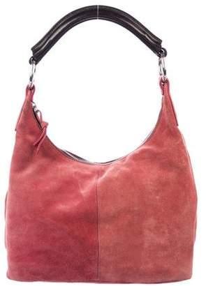 Miu Miu Leather-Trimmed Suede Hobo