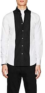 Alexander McQueen Men's Colorblocked Poplin Shirt - White