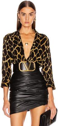 L'Agence Ryan 3/4 Sleeve Blouse in Sienna Safari   FWRD