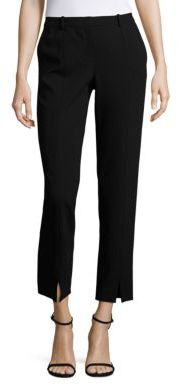 St. John Caviar Collection Jennifer Ankle Slit Pants $395 thestylecure.com