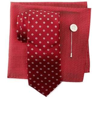 Ben Sherman Keene Silk Neat Tie, Pocket Square, & Lapel Set
