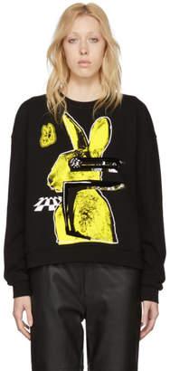 McQ Black Bunny Slouch Sweatshirt