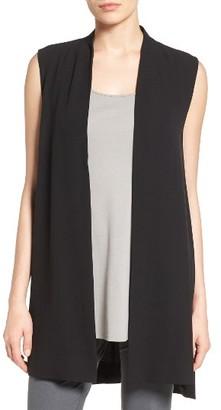 Women's Eileen Fisher Long Silk Vest $358 thestylecure.com