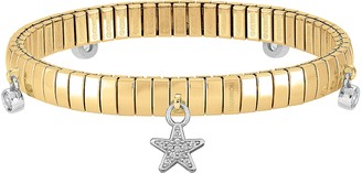 Nomination Gold PVD Stainless Steel Women's Bracelet w/Stearling Silver Star and Cubic Zirconia