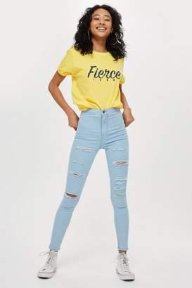 Topshop Super Bleach Super Ripped Joni Jeans