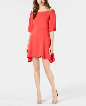 Bar III Off-The-Shoulder Fit & Flare Dress, Created for Macy's