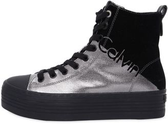 40mm Zazah Metallic Canvas Sneakers $131 thestylecure.com