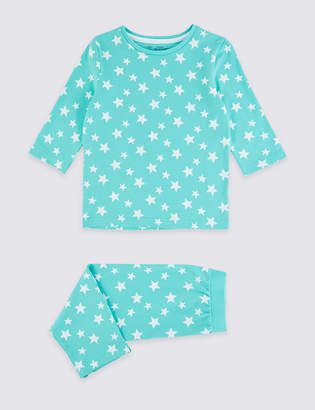 Marks and Spencer Dreamskin Cotton with Stretch Star Cropped Pyjamas (1-16 Years)