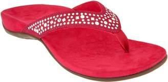Vionic Orthotic Embellished Suede Sandals - Marilla