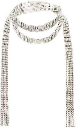 Very Diamante Wrap Necklace - Silver