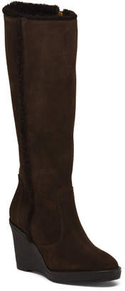Made In Italy Knee High Suede Boots