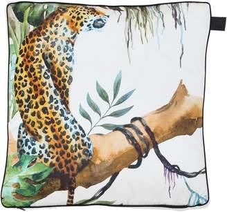 Leopard Cotton & Silk Accent Pillow