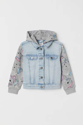 H&M Hooded denim jacket