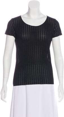 Armani Collezioni Textured Short Sleeve Top
